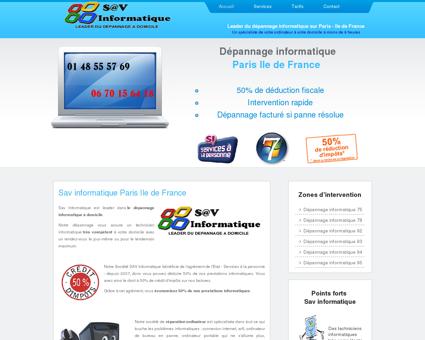 Dépannage informatique Paris ile de France...