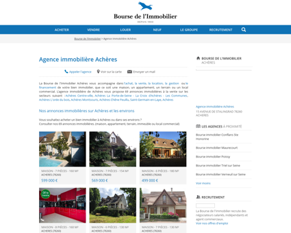 Agence immobilière Achères - Immobilier,...