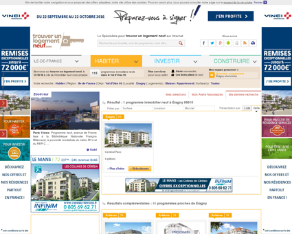 Immobilier neuf Éragny 95610 3 programmes...