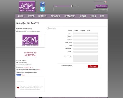 Immobilier Achères : ACM IMMOBILIER - IBCS