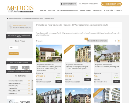 Programme immobilier neuf en Ile de France