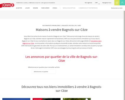 Achat - Vente Maison à Bagnols sur ceze - Orpi...