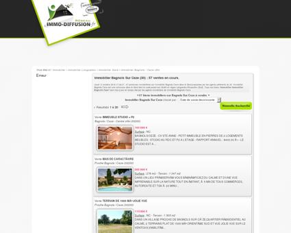 Immobilier Bagnols Sur Ceze : Immo Diffusion...