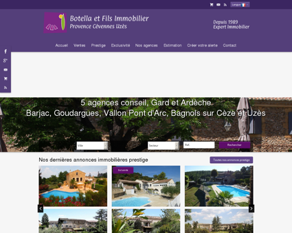 Immobilier, maison, villa Ardeche, Gard - mas...