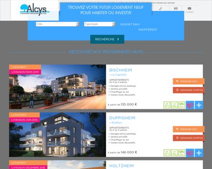 Alcys, promoteur immobilier à Châtenois