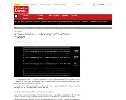 Edition de Forbach | Behren-lès-Forbach : un...