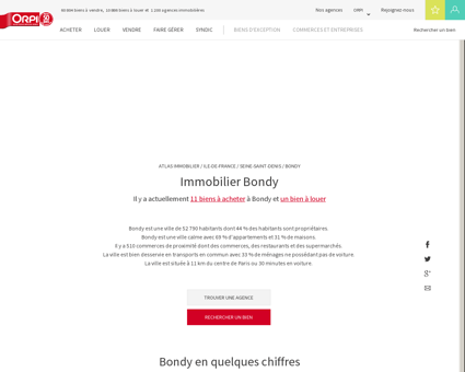 Immobilier Bondy - Biens immobiliers vendus...
