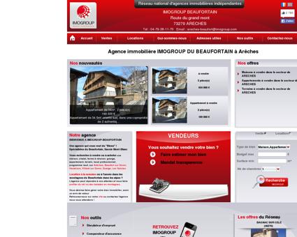 Immobilier à Arêches : transaction gestion...