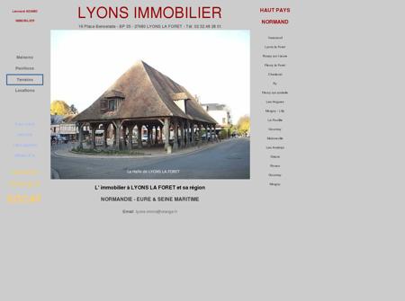 IMMOBILIER LYONS LA FORET Agences...