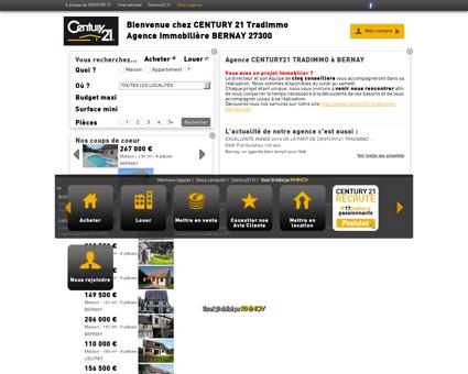 Agence immobilière BERNAY CENTURY 21...