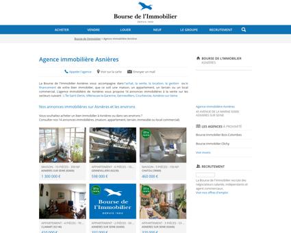 Agence immobilière Asnières - Immobilier,...
