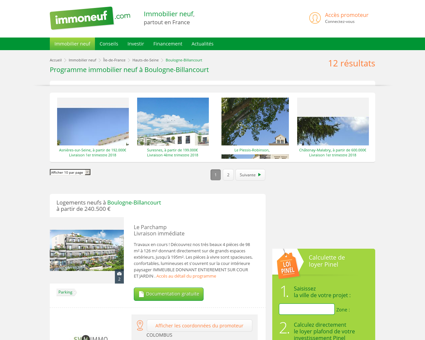 Immobilier Neuf Boulogne-Billancourt (92) -...
