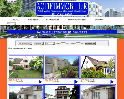 Immobilier bezons : Agence ACTIF...
