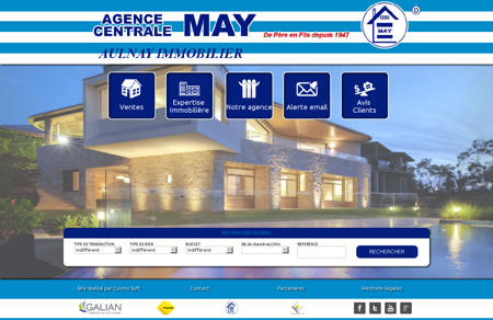 AULNAY IMMOBILIER- AGENCE CENTRALE MAY
