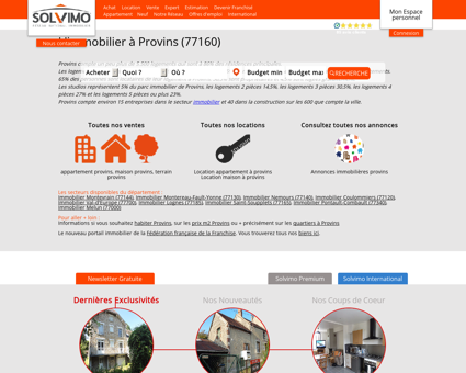 Immobilier Provins Solvimo