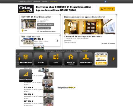 Agence immobilière BONDY CENTURY 21...