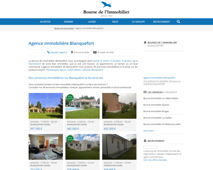 Agence immobilière Blanquefort - Immobilier,...