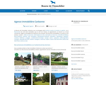 Agence immobilière Carbonne - Immobilier,...