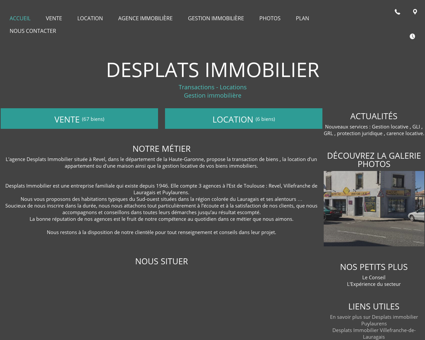 Agences immobilières - Desplats Immobilier à...