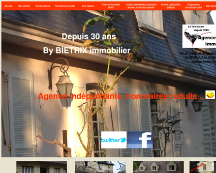 Agence immobiliere l'Isle-Adam 95290,...