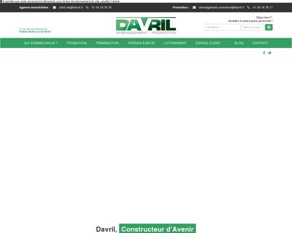 DAVRIL Promoteur et Agence Immobilière en...