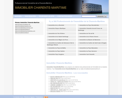 Immobilier Charente-Maritime