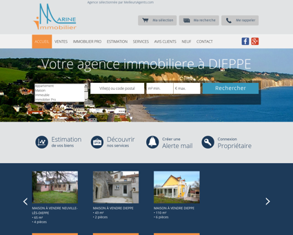 Marine immobilier Dieppe, Agence...