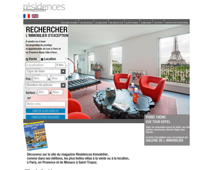 Immobilier prestige à Paris, en Provence, sur la...