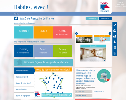 Immobilier Paris, Versailles, Nanterre, Viry...