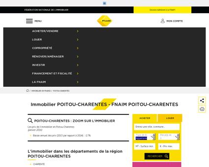 Immobilier POITOU-CHARENTES - FNAIM...