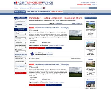 Immobilier Poitou-Charentes - Les moins...