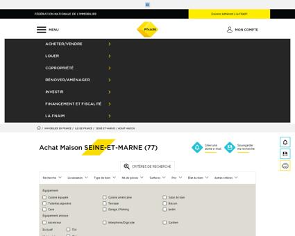 Achat Maison SEINE-ET-MARNE (77) - Fnaim.fr