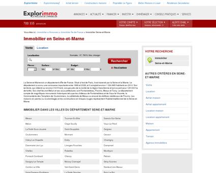Immobilier en Seine-et-Marne : annonces...