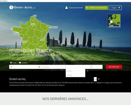 Immobilier France : maisons à vendre en France