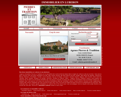 Immobilier luberon Agence immobilière...