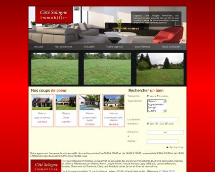 Accueil | Cote Sologne Immobilier