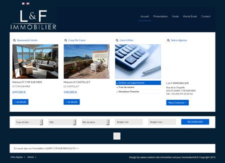 Annonces immobilieres Saint cyr sur mer L & F...