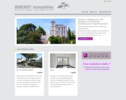 Agence immobilière Nantes Ouest,Diderot...
