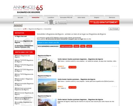 Immobilier Bagnères-de-Bigorre (65200),...