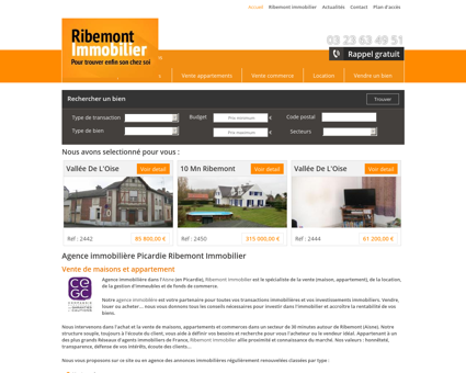 Agence immobiliere Picardie Ribemont...