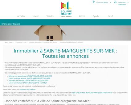 Immobilier SAINTE-MARGUERITE-SUR-MER...