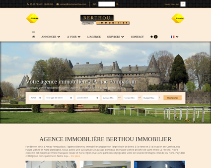 Agence immobilière BERTHOU IMMOBILIER à...