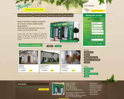 Bocage ImmobilierAccueil