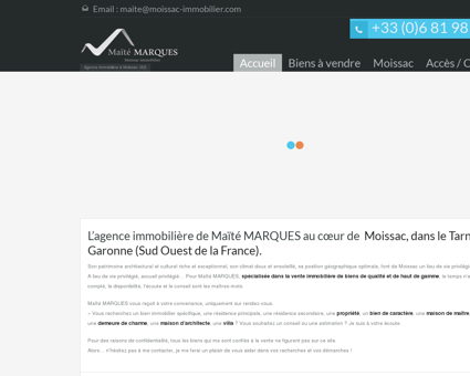 Immobilier Maïté Marques, agence...
