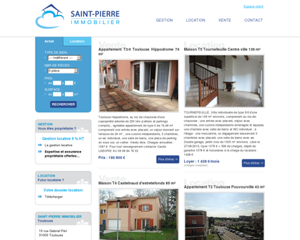 Saint-Pierre Immobilier Toulouse - Gestion...