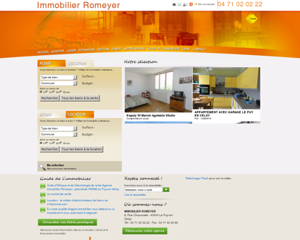 Immobilier Romeyer - Agence immobilière au...