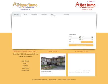 Agence immobilière Aurignac et Aspet Immo -...