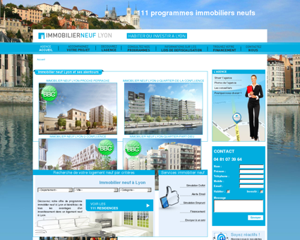 Achat immobilier neuf Lyon  Immobiliers...