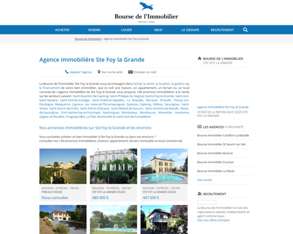Agence immobilière Ste Foy la Grande -...