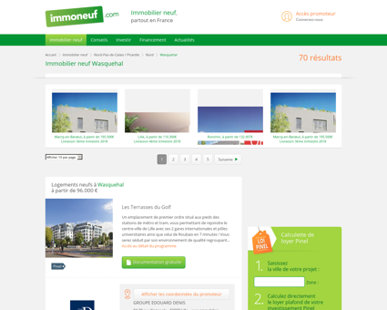 Immobilier Neuf Wasquehal (59290) -...